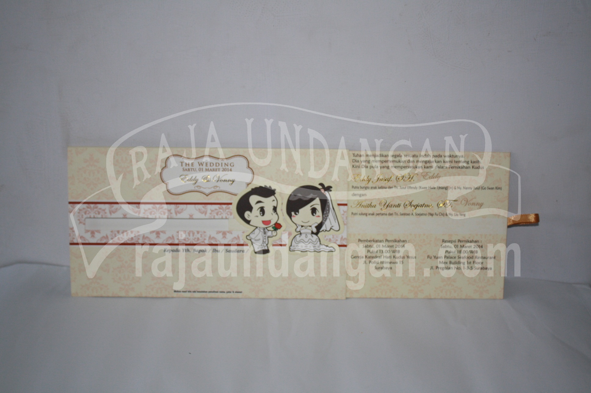 Undangan Pernikahan Hardcover Motif Kartun Geser Eddy dan Vonny EDC 46 2 - Tips Mencetak Wedding Invitations Simple