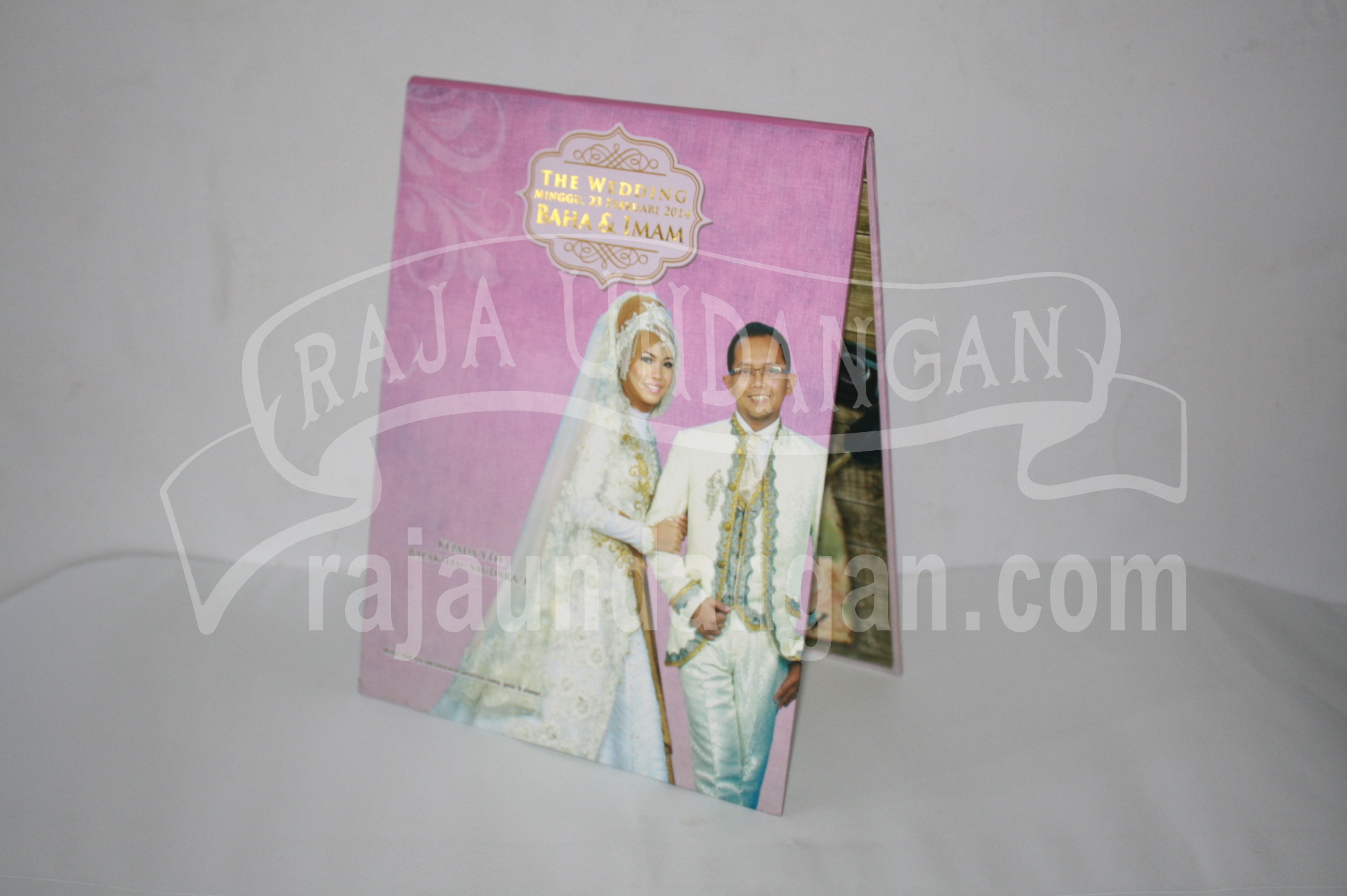 Undangan Pernikahan Hardcover Pop Up 3D Baha dan Imam EDC 49 - Percetakan Wedding Invitations Murah di Kapasan