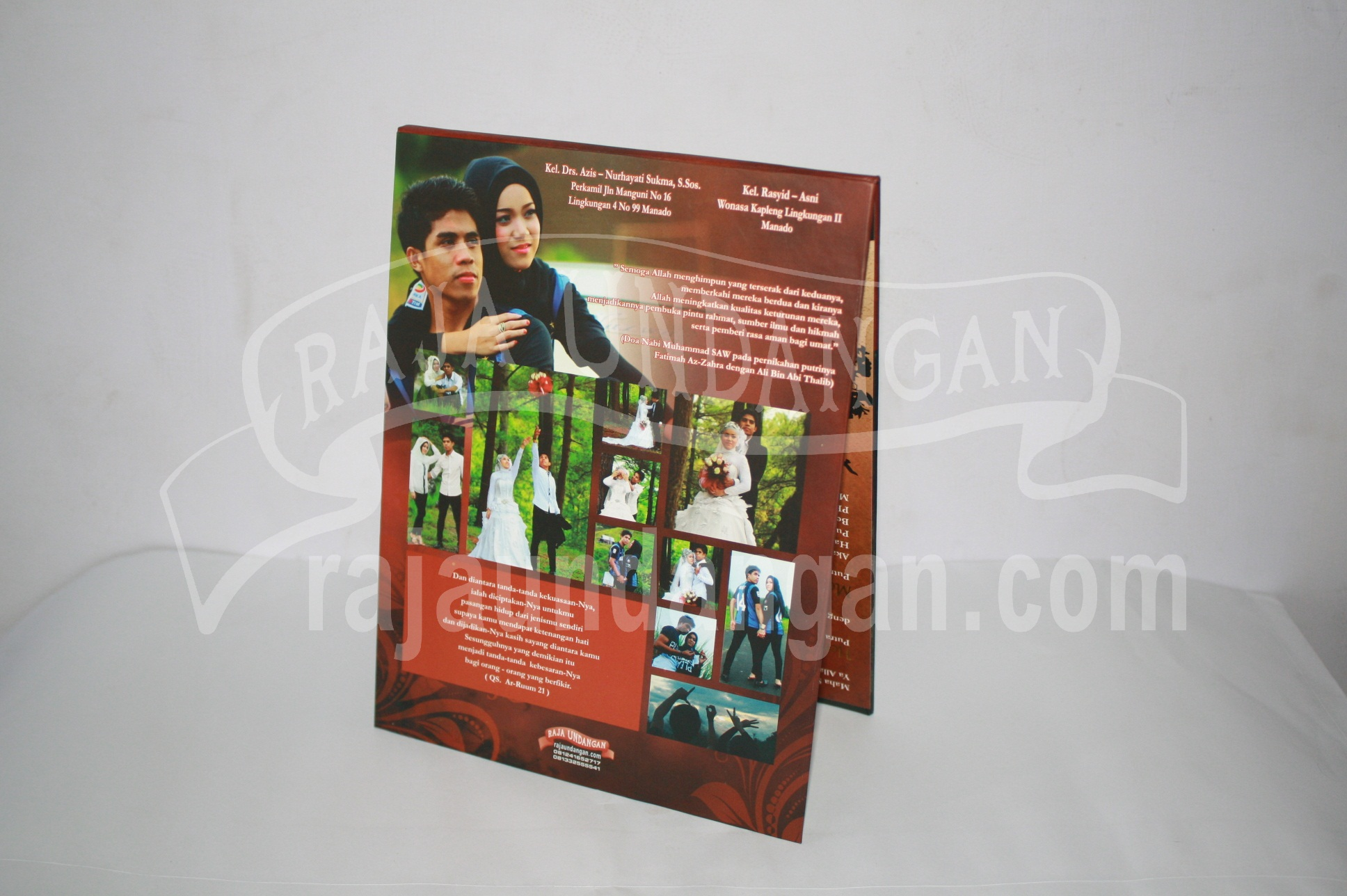 Undangan Pernikahan Hardcover Pop Up Heri dan Mona EDC 43 1 - Pesan Wedding Invitations Simple di Jambangan Karah