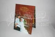 Undangan Pernikahan Hardcover Pop Up Heri dan Mona (EDC 43)