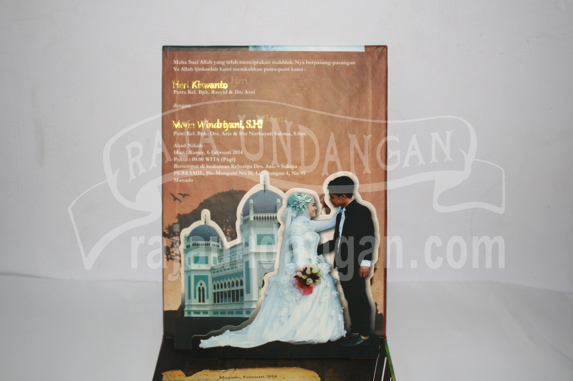 Undangan Pernikahan Hardcover Pop Up Heri dan Mona EDC 43 2 - Percetakan Wedding Invitations Murah di Kapasan