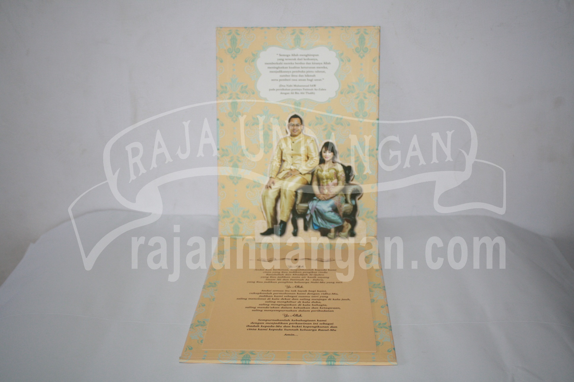 Undangan Pernikahan Hardcover Pop Up Pakai Amplop Yudha dan Devina EDC 47 2 - Percetakan Wedding Invitations Eksklusif di Dukuh Setro