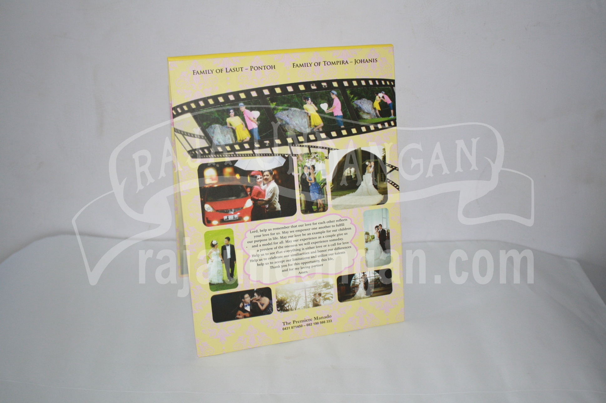 Undangan Pernikahan Hardcover Pop Up Warens dan Jean EDC 50 4 - Pesan Wedding Invitations Simple di Jambangan Karah