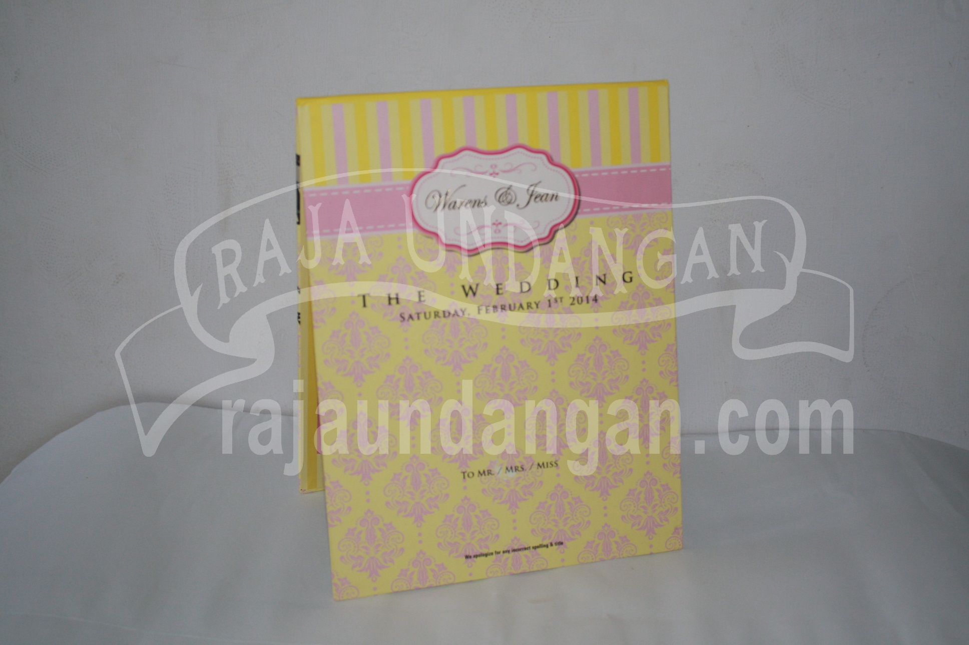 Undangan Pernikahan Hardcover Pop Up Warens dan Jean EDC 50 - Percetakan Wedding Invitations Elegan di Pakal