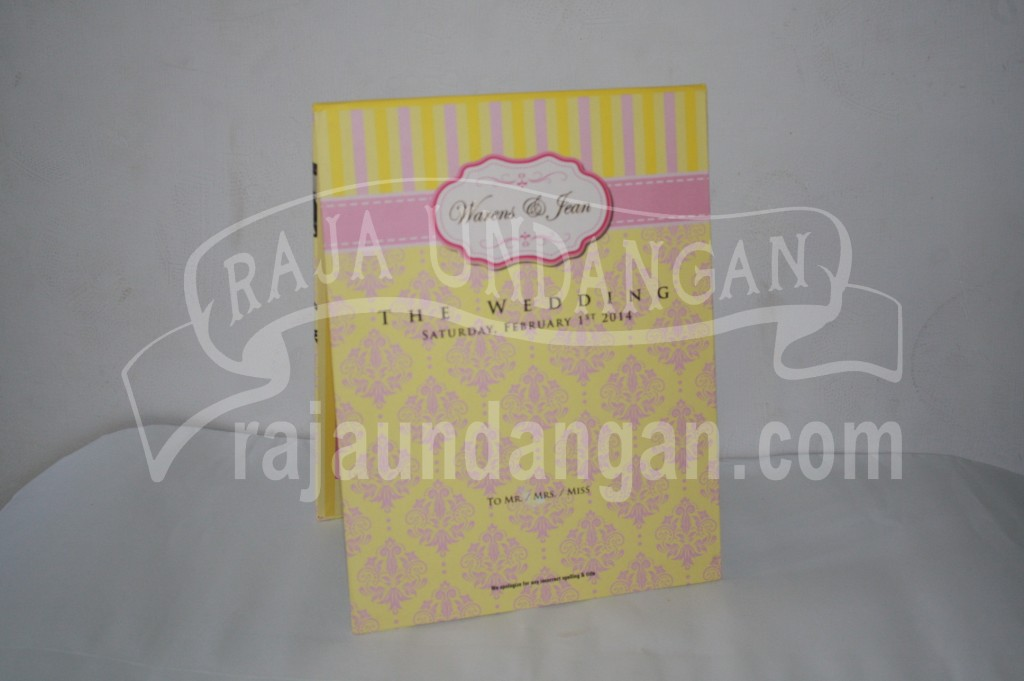 Undangan Pernikahan Hardcover Pop Up Warens dan Jean (EDC 50)