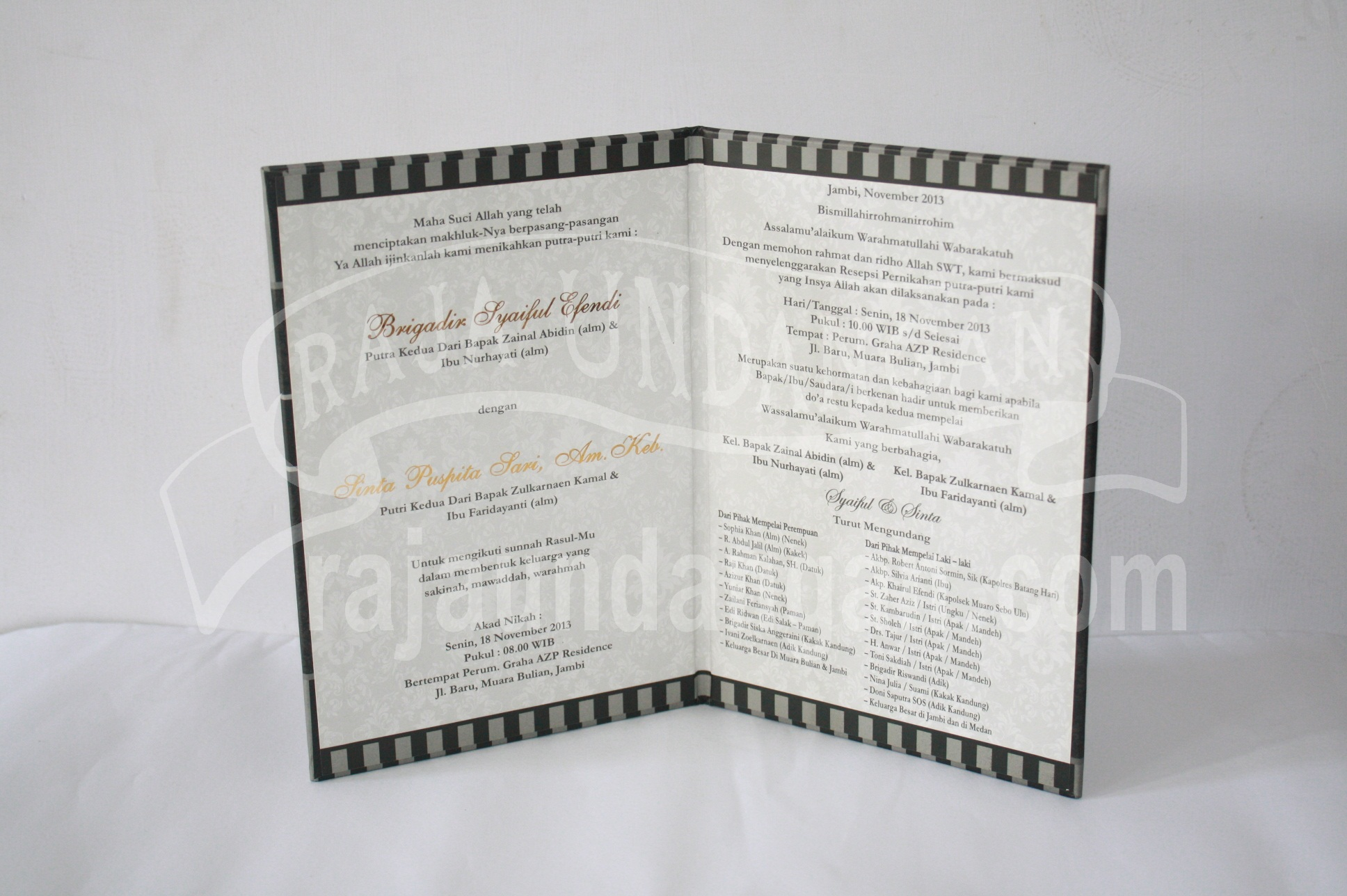Undangan Pernikahan Mini Hardcover Syaiful dan Sinta EDC 35 12 - Membuat Wedding Invitations Simple di Simokerto