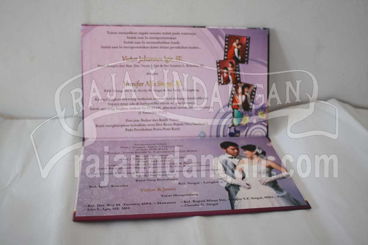 Hardcover Jennifer Victor 1 - Percetakan Wedding Invitations Eksklusif dan Elegan di Gunung Anyar
