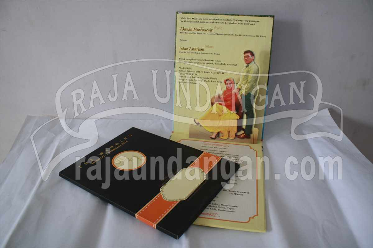 Hardcover Pop Up Awie Intan 3 - Percetakan Undangan Pernikahan Simple di Simolawang