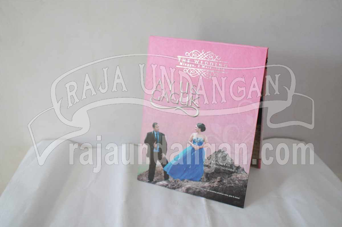 Hardcover Pop Up Ayu Gaguk 1 - Tutorial Mengerjakan Wedding Invitations Simple dan Elegan