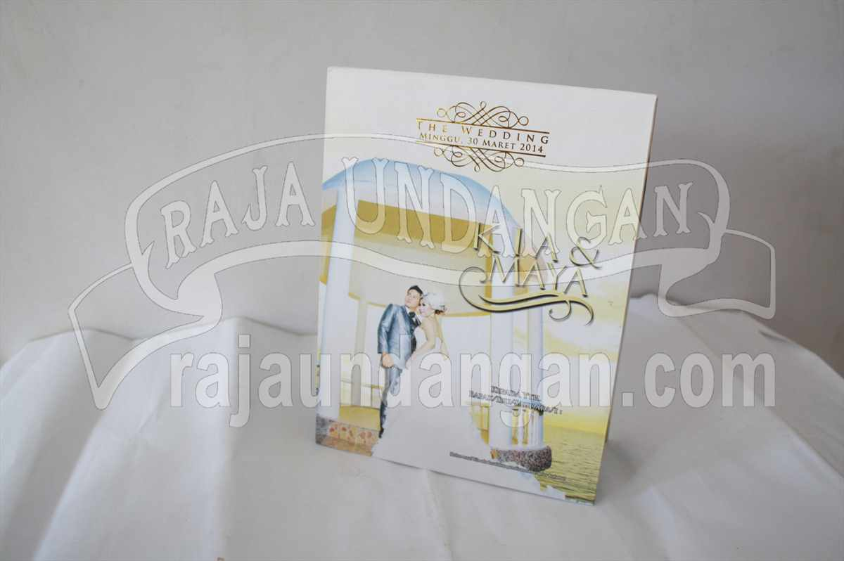 Hardcover Pop Up Kia Maya 1 - Pesan Wedding Invitations Elegan di Kedungcowek