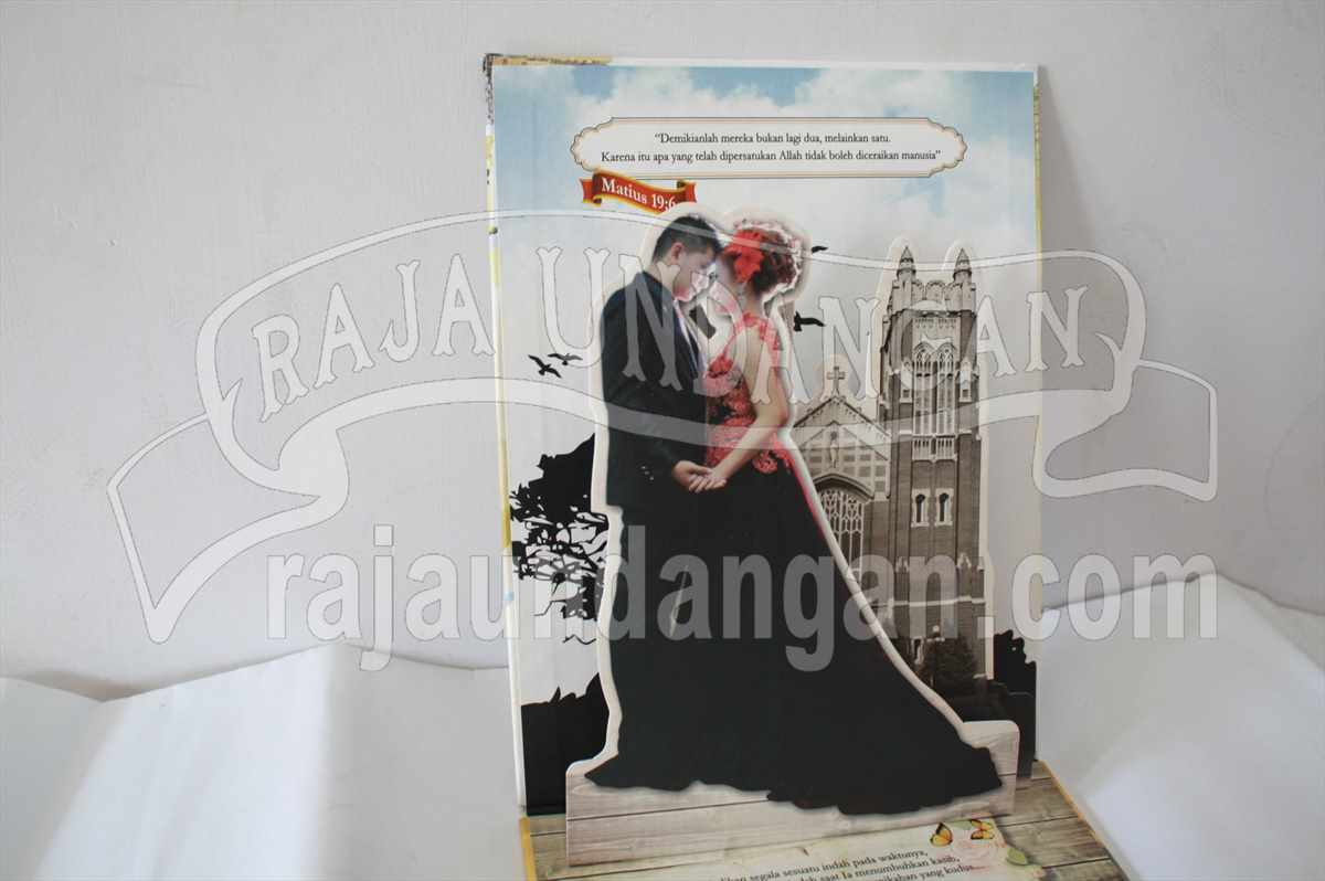 Hardcover Pop Up Kia Maya 2 - Pesan Wedding Invitations Murah di Kapasan