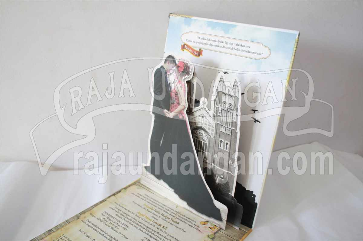 Hardcover Pop Up Kia Maya 5 - Percetakan Wedding Invitations Elegan di Pakal