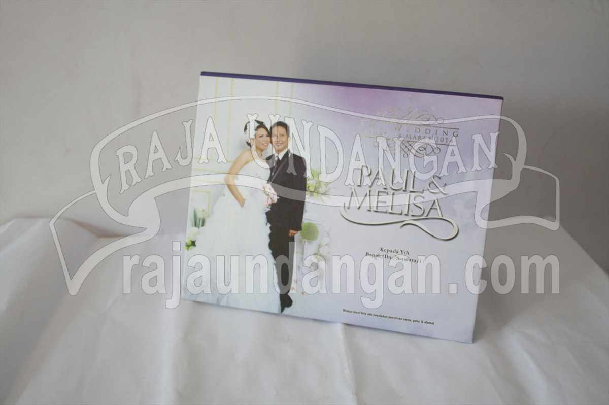 Hardcover Pop Up Paul Melisa 1 - Membuat Undangan Perkawinan Simple di Kedungcowek