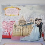Undangan Pernikahan Hardcover Pop Up Landscape Paul dan Melisa (EDC 57)