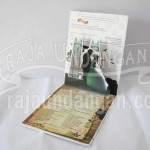 Undangan Pernikahan Hardcover Pop Up 3D Safat dan Anet (EDC 68)