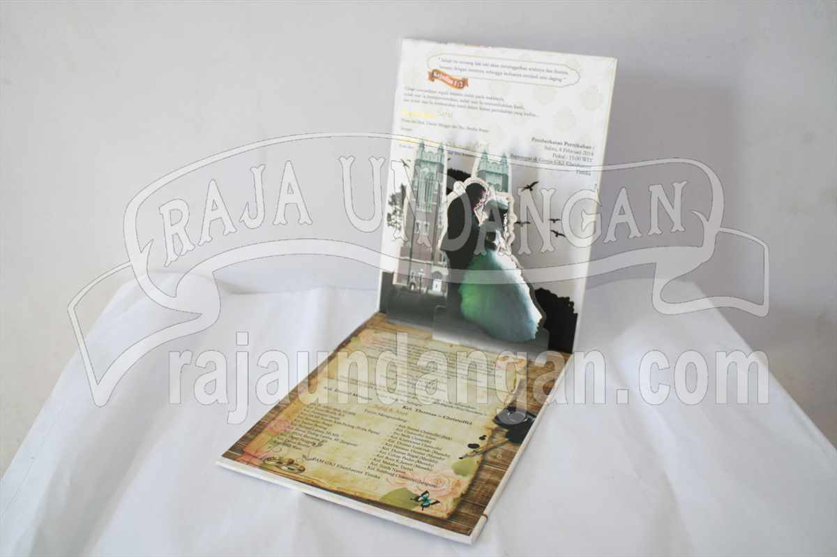 Hardcover Pop Up Safat Anet 2 - Percetakan Wedding Invitations Elegan di Pakal