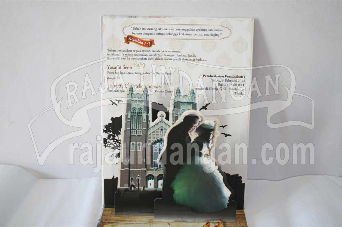 Hardcover Pop Up Safat Anet 3 - Cetak Wedding Invitations Unik di Babakan Jerawat