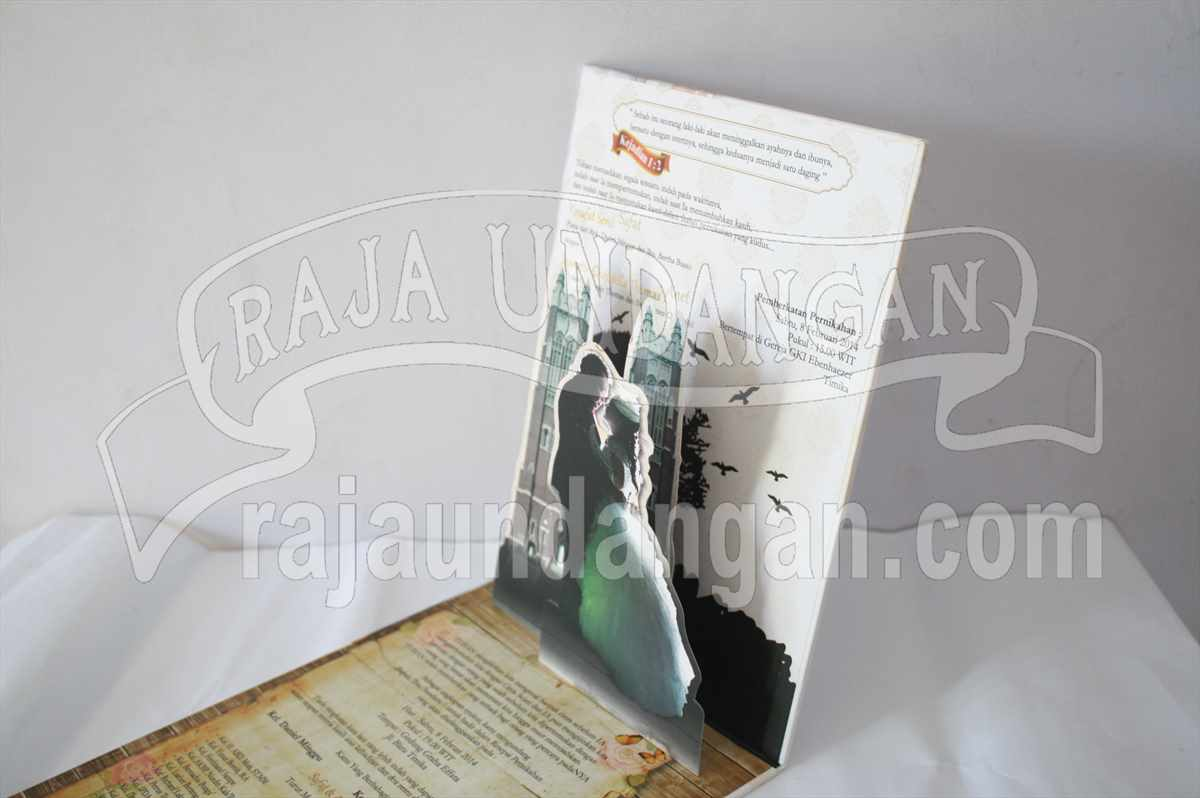 Hardcover Pop Up Safat Anet 5 - Cetak Wedding Invitations Unik dan Eksklusif di Simomulyo Baru