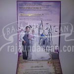 Undangan Pernikahan Hardcover Pop Up 3D Arie dan Wulan (EDC 82)