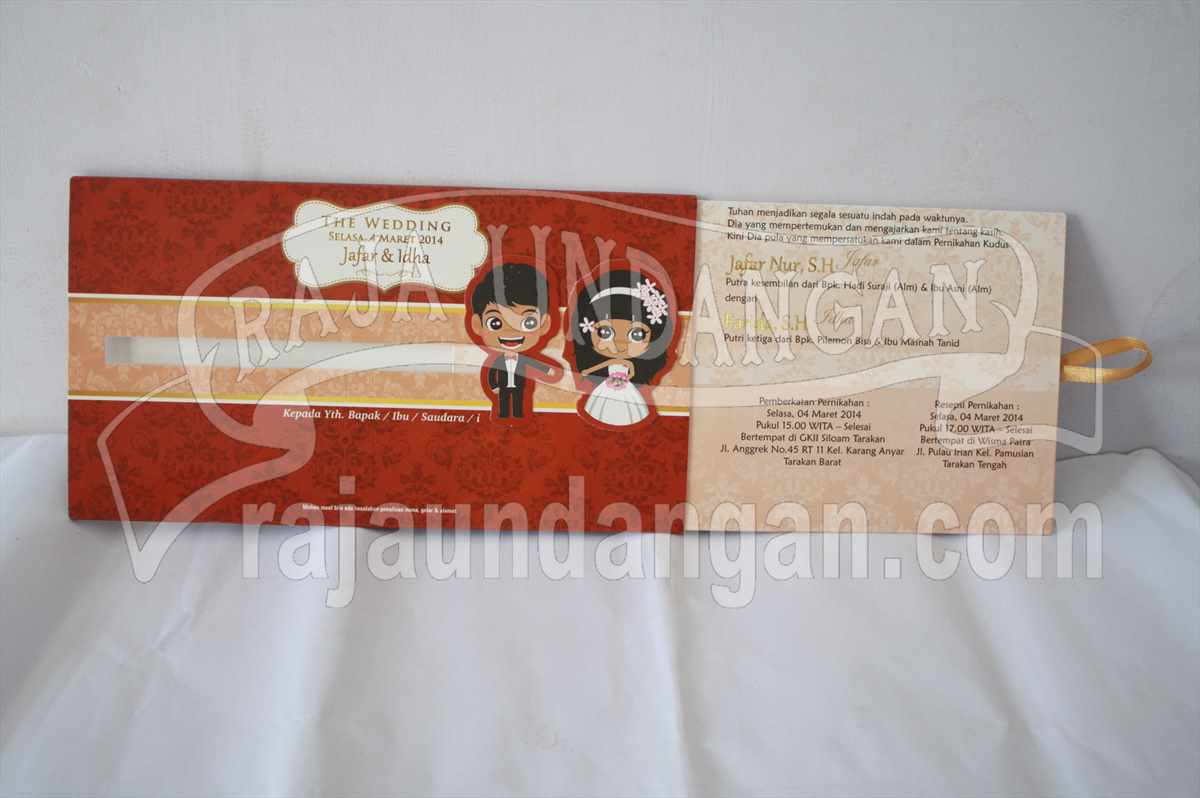 Pesan Wedding Invitations Simple dan Elegan di Ploso