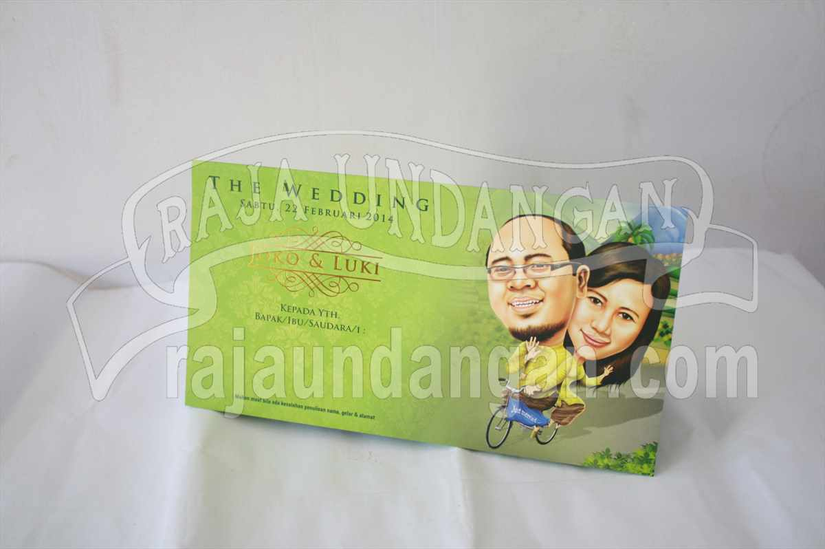 Softcover Karikatur Joko Luki 1 - Tips Mencetak Wedding Invitations Simple