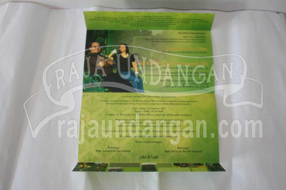 Softcover Karikatur Joko Luki 4 - Pesan Wedding Invitations Simple di Jambangan Karah