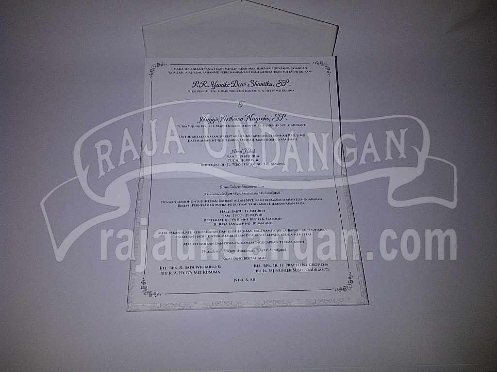 Undangan Hardcover Eksklusive Nike Ari 7 - Desain Wedding Invitations Unik dan Simple