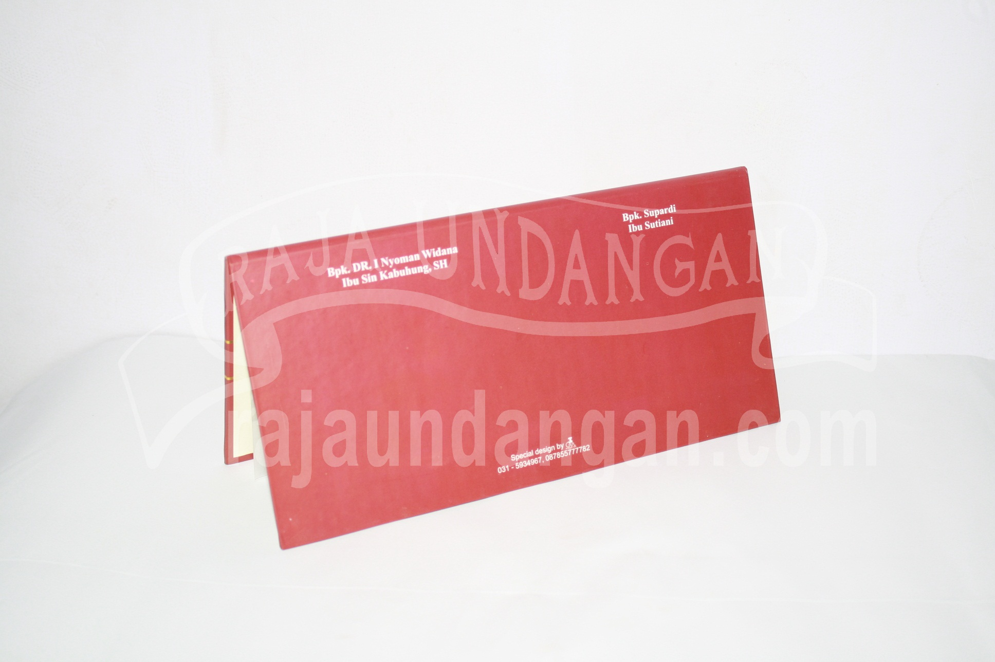 Undangan Hardcover Ferdinand dan Naning 2 - Desain Wedding Invitations Unik dan Simple