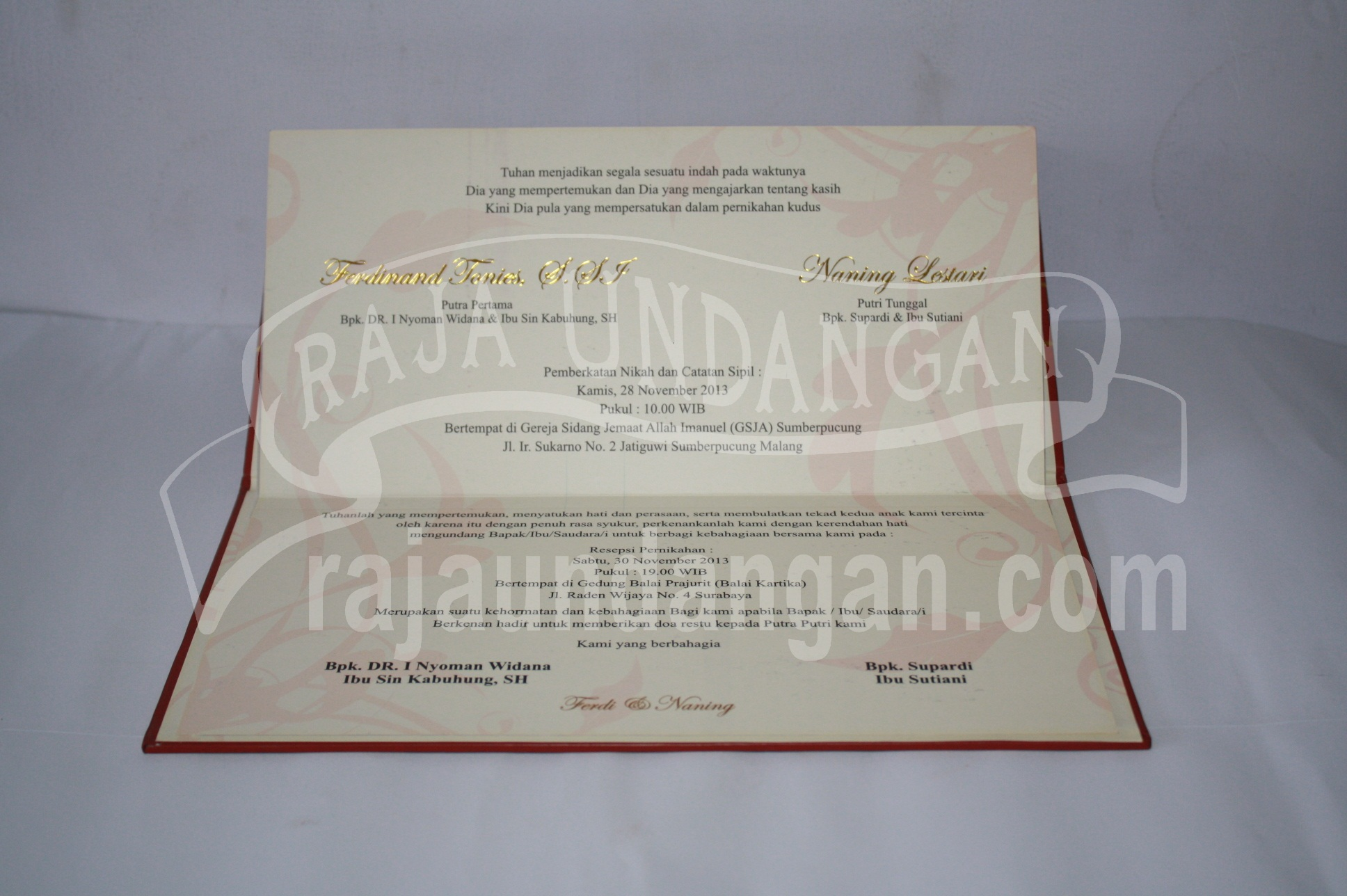 Undangan Hardcover Ferdinand dan Naning 5 - Membuat Wedding Invitations Unik dan Simple di Sawahan