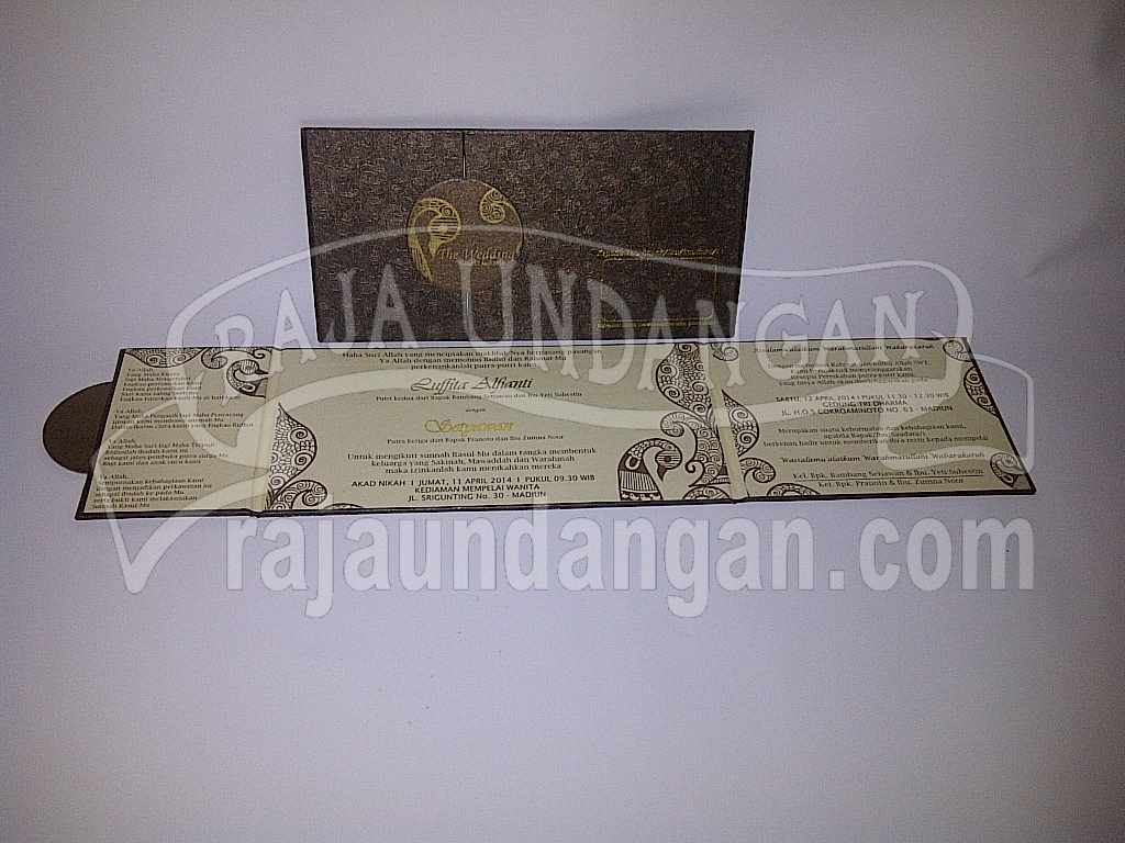 Undangan Hardcover Fita Iwan 1 - Percetakan Wedding Invitations Unik dan Eksklusif di Tandes