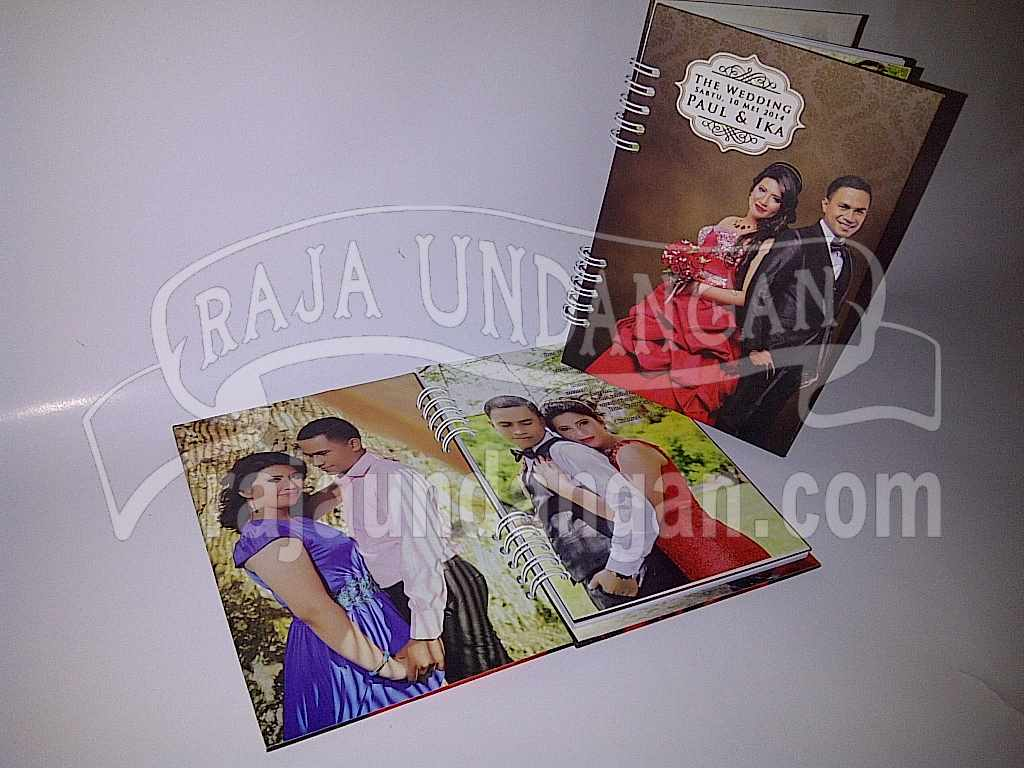 Undangan Hardcover Notes Unik Bermanfaat Ika Paul 1 - Pesan Wedding Invitations Murah di Kapasan