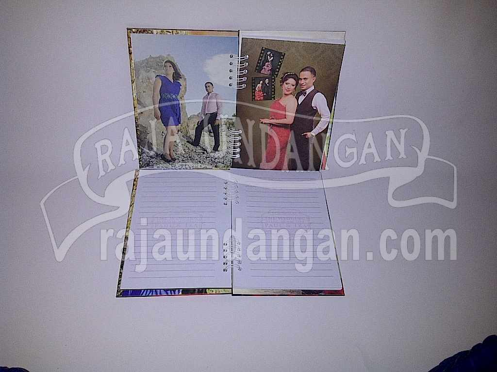 Undangan Hardcover Notes Unik Bermanfaat Ika Paul 3 - Membuat Undangan Perkawinan Unik dan Simple di Sukomanunggal