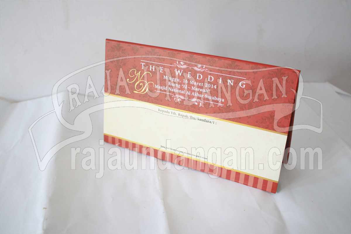 Undangan Hardcover Nurul Deni 1 - Percetakan Wedding Invitations Unik dan Simple di Dukuh Sutorejo