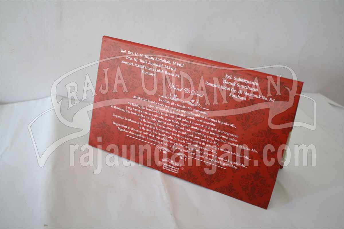 Undangan Hardcover Nurul Deni 3 - Membuat Wedding Invitations Simple di Simokerto