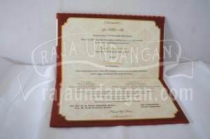 Undangan Pernikahan Hardcover Nurul dan Deni (EDC 65)