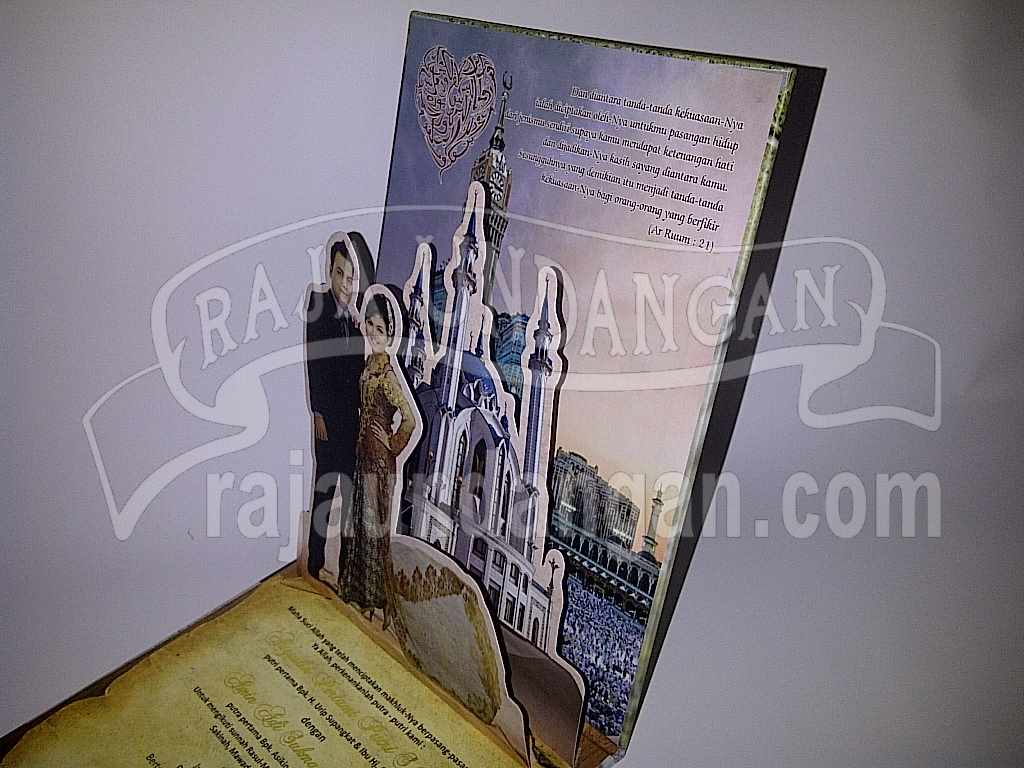 Undangan Hardcover Pop Up Eksklusive Titin Amin 5 - Pesan Wedding Invitations Simple di Jambangan Karah