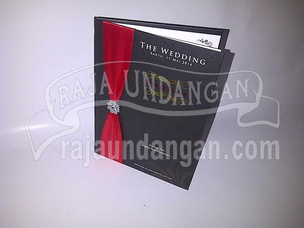 Undangan Hardcover Ria Baim 1 - Percetakan Wedding Invitations Unik dan Simple di Simomulyo