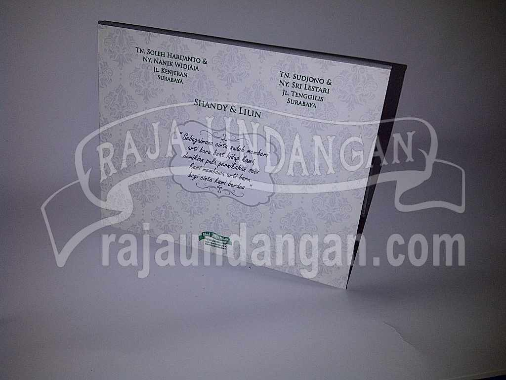 Undangan Hardcover pop up Shandy Lilin 2 - Pesan Wedding Invitations Online di Dupak