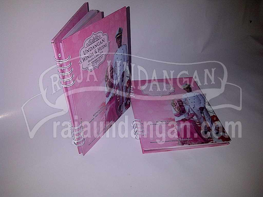 Undangan Notes Winda Husni 1 - Percetakan Wedding Invitations Simple dan Elegan di Putat Jaya