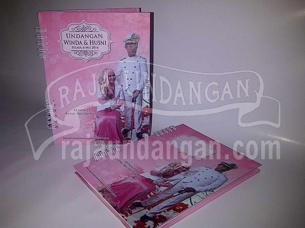 Undangan Notes Winda Husni 2 - Cetak Wedding Invitations Unik dan Murah di Pradah Kalikendal