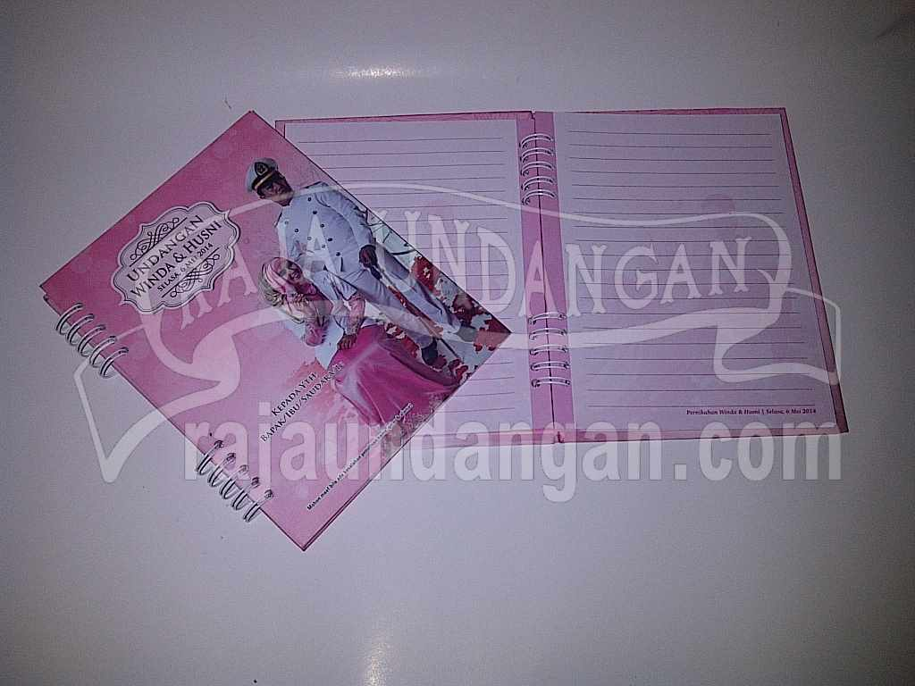 Undangan Notes Winda Husni 4 - Pesan Wedding Invitations Simple di Jambangan Karah