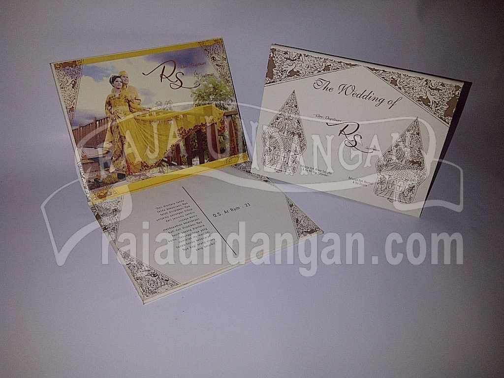 Undangan Pernikahan Hardcover Motif Wayang Rani dan Sudirman (EDC 64)