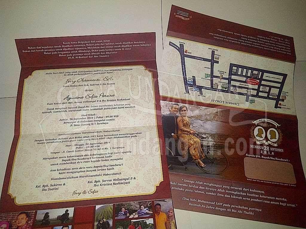 Undangan Pernikahan Softcover Ferry dan Agustina (EDC 97)