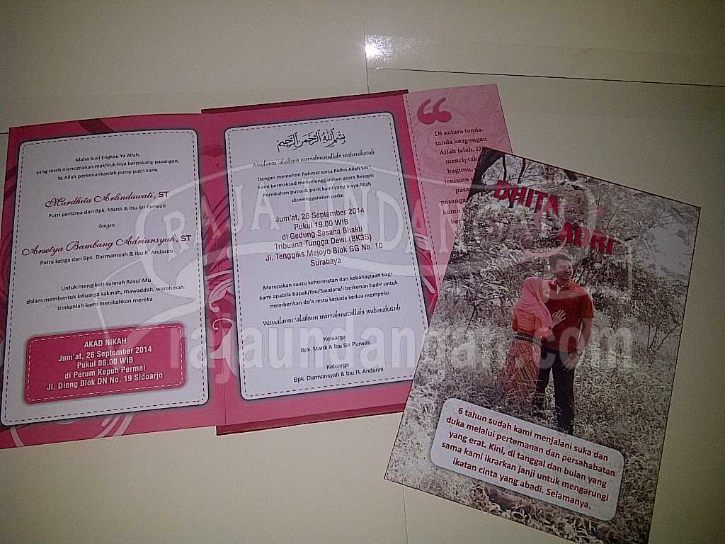 IMG 20140825 00128 - Percetakan Wedding Invitations Eksklusif dan Elegan di Gunung Anyar