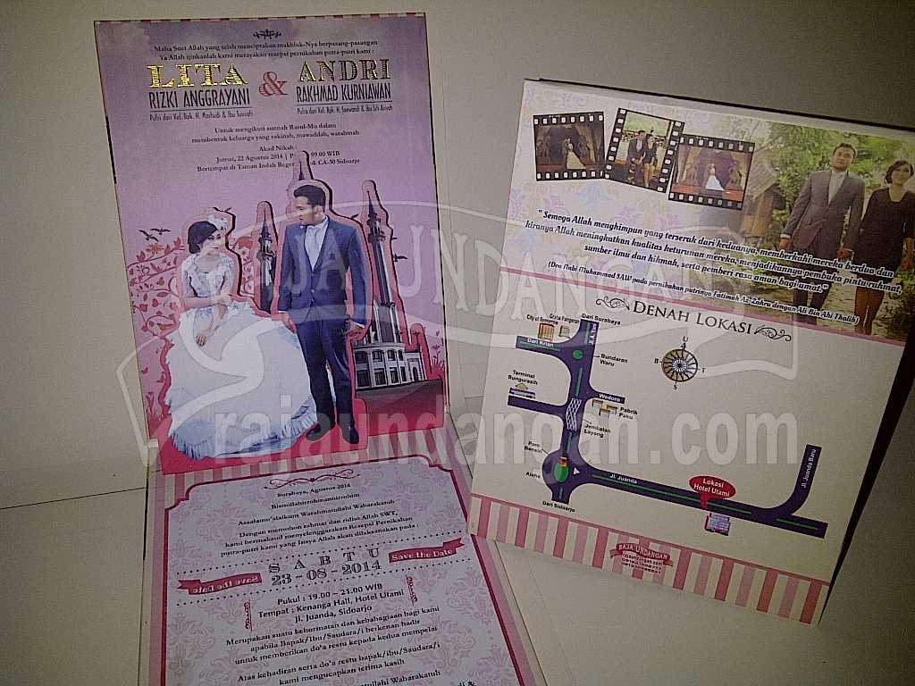 IMG 20140825 00155 - Percetakan Wedding Invitations Unik dan Simple di Dukuh Sutorejo