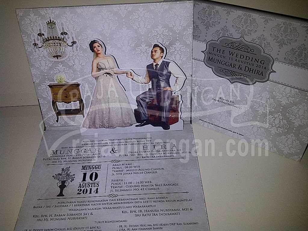 Undangan Pernikahan Pop Up 3D Munggar dan Dhira (EDC 94)