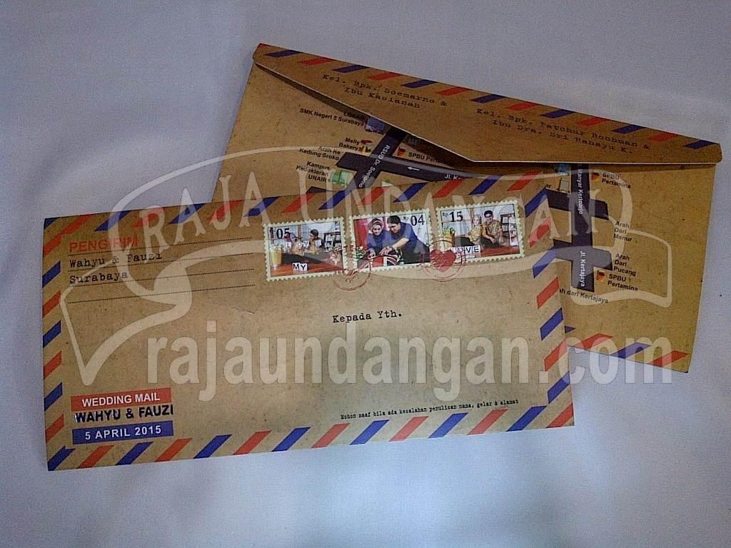 Undangan Softcover Model Amplop Pos Wahyu Dan Fauzi Edc 103