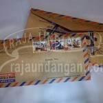 Undangan Pernikahan Softcover Model Amplop Pos Wahyu dan Fauzi (EDC 103)
