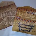 Undangan Softcover Model Amplop Pos Wahyu dan Fauzi (EDC 103) Tampak Dalam dan Luar