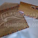 Undangan Softcover Model Amplop Pos Wahyu dan Fauzi (EDC 103) Isi